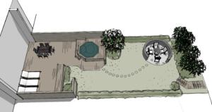 Scandinavian row house garden design D